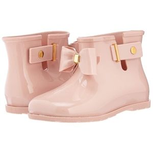 Mini Melissa girls sugar rain boots light pink 12